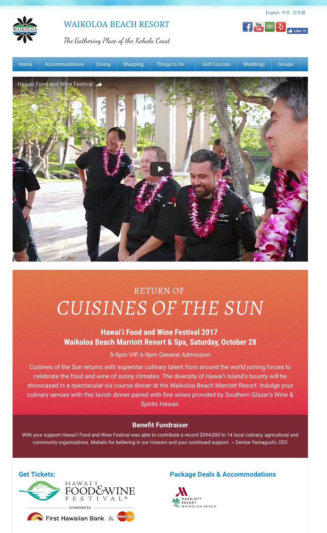 Hawai'i Food & Wine Festival – Return Of The Cuisines Of The Sun