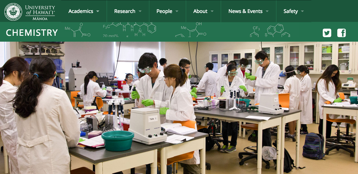 University Of Hawaii Manoa – Chemistry Department
