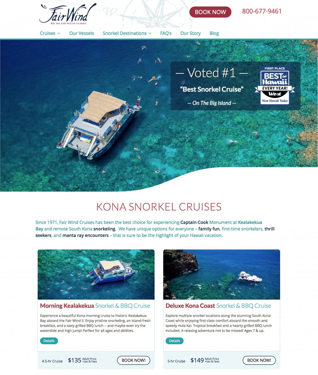 Fair Wind Cruises – Voted Best Snorkel Cruise On The Big Island