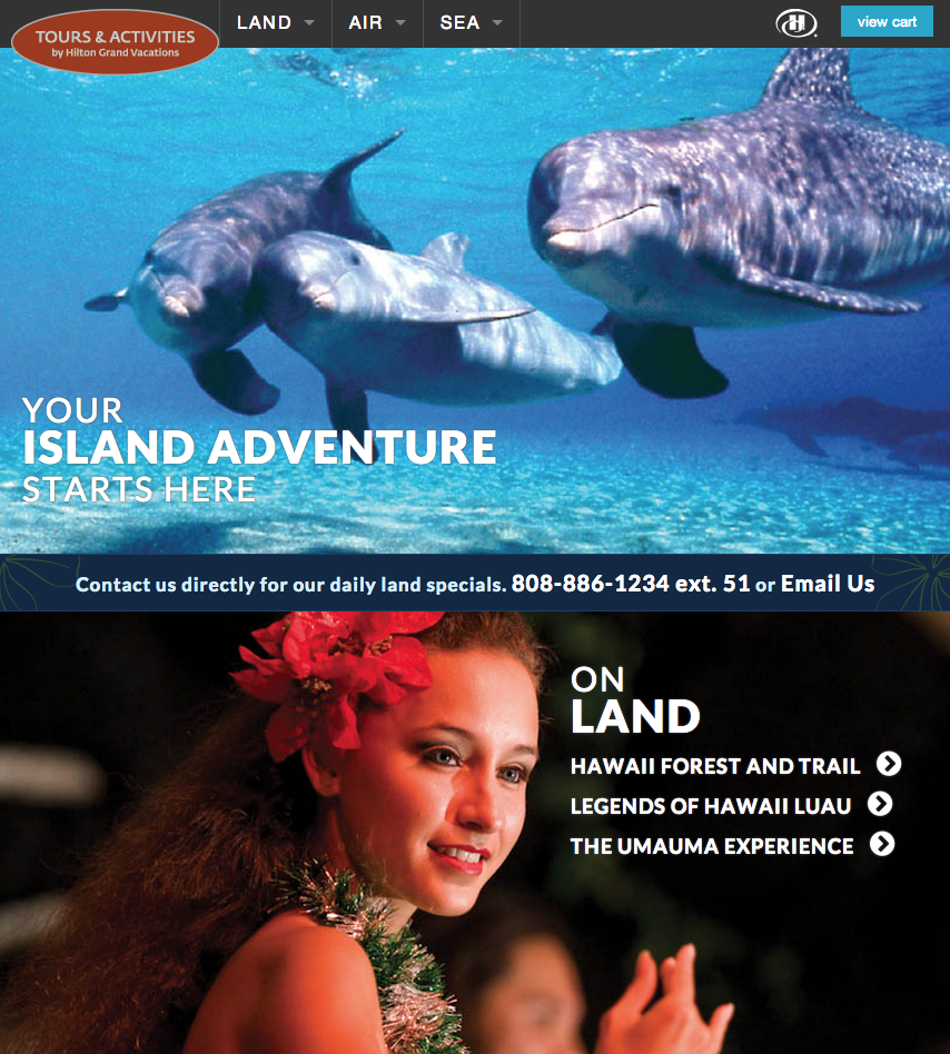 Hilton Grand Vacations – Tours & Activities Website